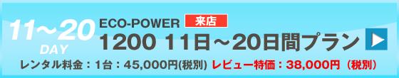 ECOPOWER-1200 20日間