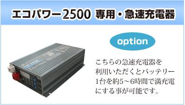 エコパワー2500専用・急速充電器