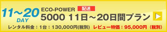 ECOPOWER-5000 20日間