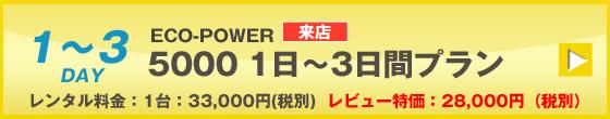 ECOPOWER-5000 3日間